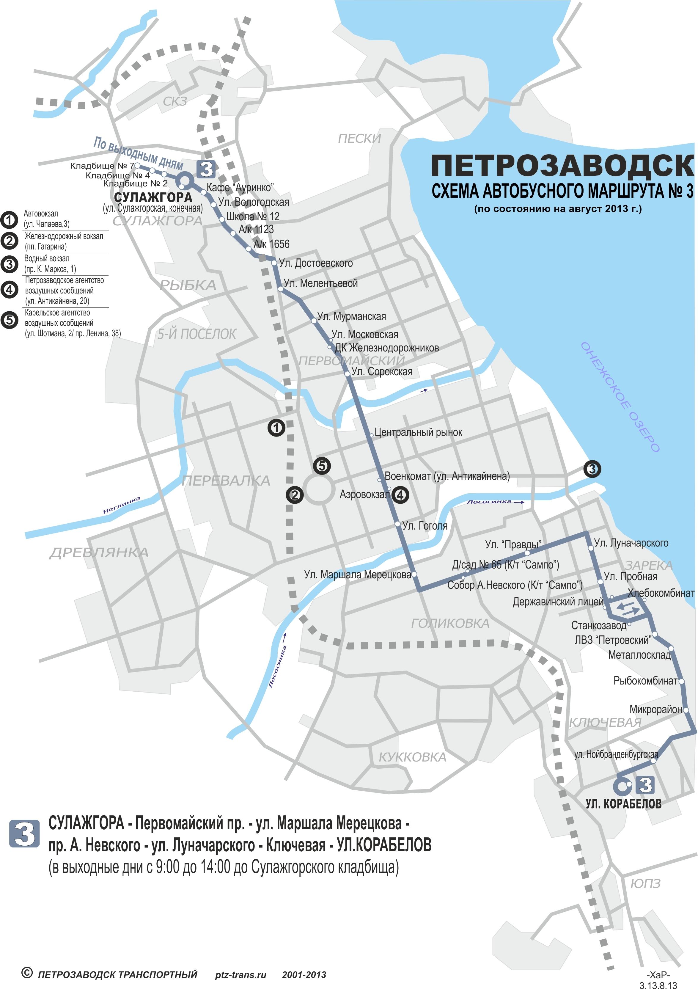 Схема маршрутов автобусов в керкире